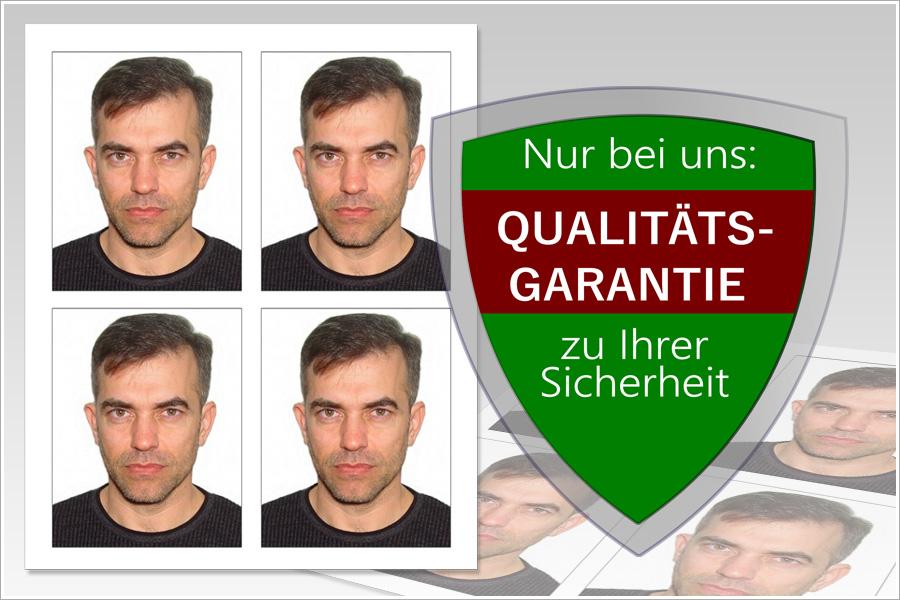 Wir bieten Ihnen biometrische Fotos mit Garantie