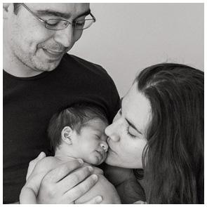 Familienfoto einer kleinen Familie